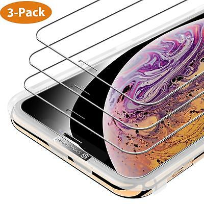 iPhone X XS Screen Protector 3-Pack HD Hardness Tempered Glass for iPhone X / XS