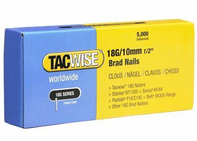 Tacwise Brad Nails (Boxed 5000) 18g/10mm 1/2'' (0392)