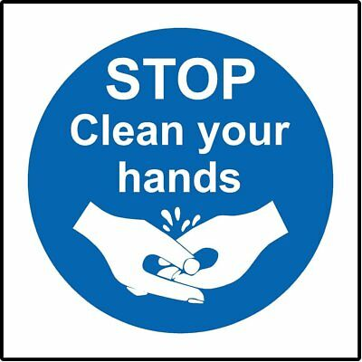 Stop wash your hand Safety sign