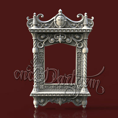 3D Model STL for CNC Router Artcam Aspire Religion Kiot Cross Decor Cut3D Vcarve