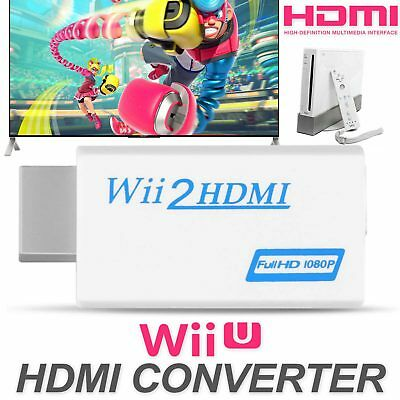 1080P HD Wii Input to HDMI Audio Output Converter Adapter 3.5mm Jack Audio Cable