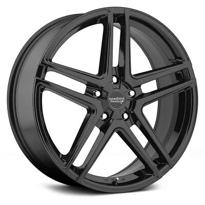 US Mags Bandit 18 Machined Black Wheel Partnumber U10918806145 Rim 5x4.75 with a 1mm Offset and a 72.6 Hub Bore