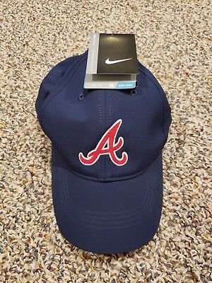 c7df32b9e49 ATLANTA BRAVES NIKE Hat Adult Unisex Dri-Fit  New With Tags  Navy ...