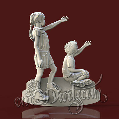 3D Model STL for CNC Router Artcam Aspire Kids Children Panel Cut3D Vcarve