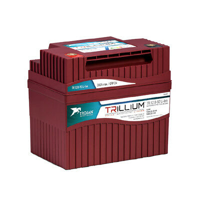 Trojan Batterie Lithium-Ion Batterie Trillium 12.8V 92AH Cycles de Charge 5000
