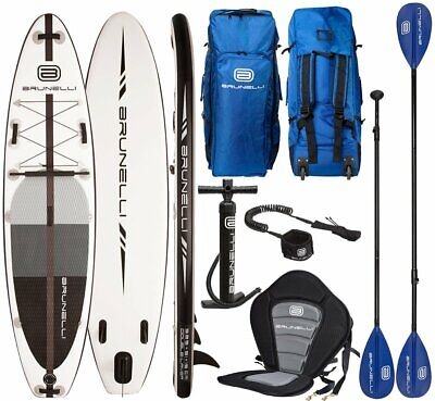 BRUNELLI 10.8 Premium SUP Board Stand Up Paddle Surf-Board mit Paddel Leash Kaja Boards