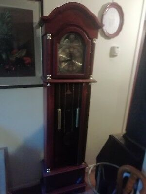 Wood long case Grandfather Clock