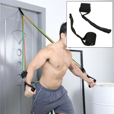BL_ Home Sports Fitness Elastic Exercise Strap Resistance Band Door Anchor Relia