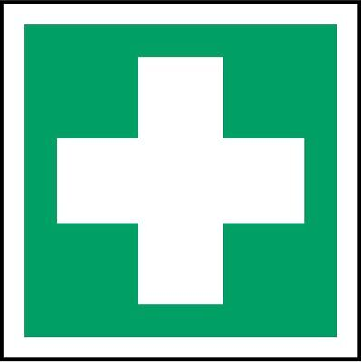 ISO Safety Label Sign - First Aid Symbol