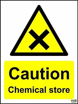Caution Chemical Store COSHH Safety Sign