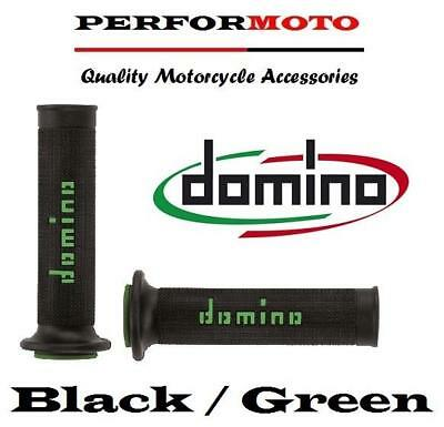 Domino RR Diamond Handle Bar Grips Honda XLR125 R  Black & Green