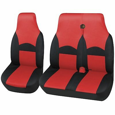 RED BLACK VAN SEAT COVER PROTECTORS FOR LDV MAXUS CREW VAN ALL YEARS