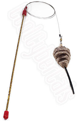 Cat Catcher Mouse Wand Toy by maker of da bird FREE SHIPPED IN POSTER TUBE! MEOW