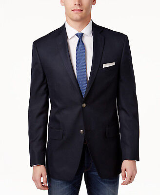 $320 Alfani Men'S Blue 44r Slim Fit 2 Button Suit Blazer Jacket Sport Coat