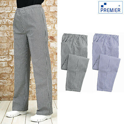 Premier Pull-On Chef's Trouser (PR552) - Unisex Checked Cooking Workwear Pants