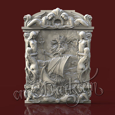 3D Model STL for CNC Router Artcam Aspire Nierd Girl Frame Panel Cut3D Vcarve