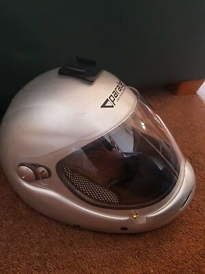 Skydiving Skydive Paratec free ZR Full Face Helmet silver