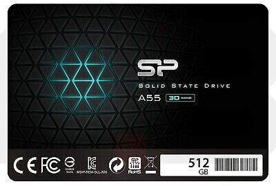 "Silicon Power 512GB-SSD 3D Nand A55 SLC Cache Performance Boost Sata Iii 2.5"" 7M"