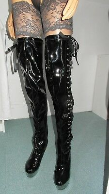 DWT, Crossdresser , TV:  Over Knee Lack High Heels, Gr.42 !!, NEU e Stiefel