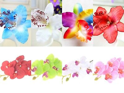 Ladies Womens Girls Orchid Flower Bright Summer Holiday Festival Hair Clip Uk