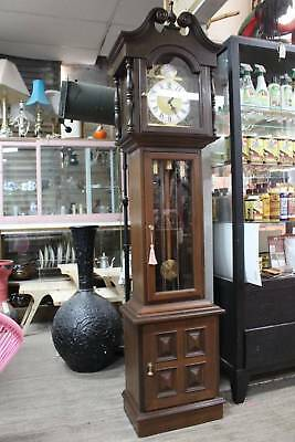 A Vintage Grandfather Clock with German Movement and 3 Month Warranty