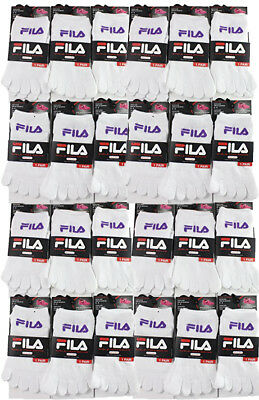 Fila Kids Girls Boys Toes Five Finger socks Wholesale lot 24 Pairs Size 6-8 Whit