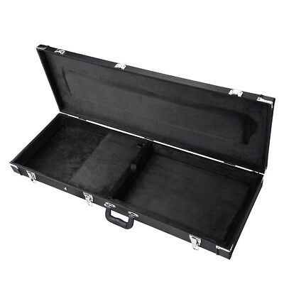 Universal Square Electric Guitar Hard Case Wooden Shell Lockable Carrying Case