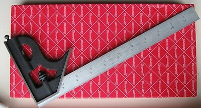 "STARRETT 12"" Combination Square Special 32nds 64ths 50ths 100ths  Inch NOS MIB"