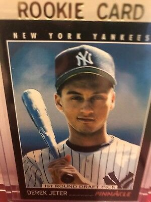 Derek Jeter 1993 Pinnacle Rookie Card 457 Mint First Round Draft Pick