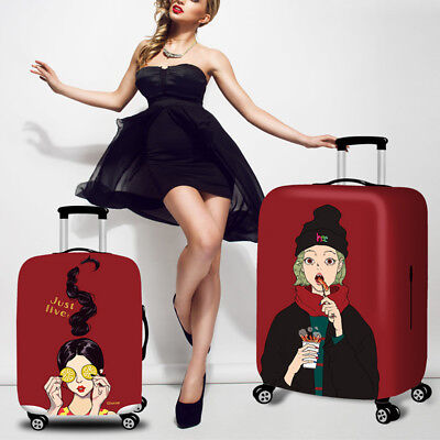 Fashion Girl Elastic Luggage Cover Bag Suitcase Dustproof Case Anti Scratch NEW