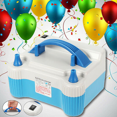 700W Dual Tip Electric Balloon Pump Portable Inflator Air Blower Wedding Party