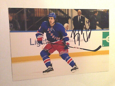 Brandon Mashinter Signed 4x6 Photo New York Rangers #4 Sports Mem, Cards & Fan Shop
