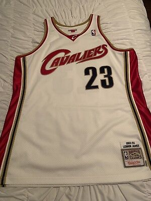 on sale 958a5 03fd6 AUTHENTIC LEBRON JAMES Mitchell & Ness Cavaliers Jersey Mens Size 48 XL Mens