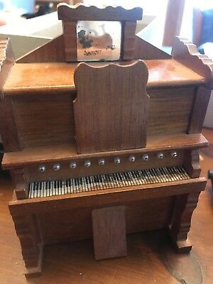 VINTAGE Doll House Miniature Musical Organ Plays Love Story-Chadwick Miller 1977