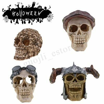 Human Prop Resin Skull Head Ornament Halloween Horror Toy Comedy Spoof Decor