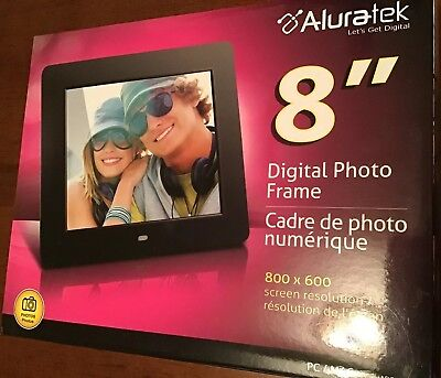 Aluratek Adpf08sf 8 Inch Digital Photo Frame With Auto Slideshow