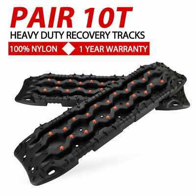 Black 4WD Recovery Tracks 10T Off Road 4x4 Sand Snow Track 10Tons Max Loading