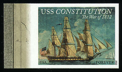US 4703a Imperf War of 1812 USS Constitution Single Left Margin VF NH MNH