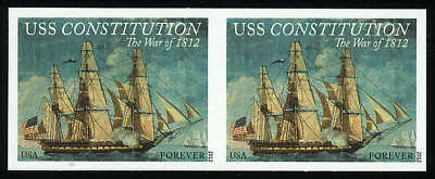 US 4703a Imperf War of 1812 USS Constitution horizontal pair VF NH MNH