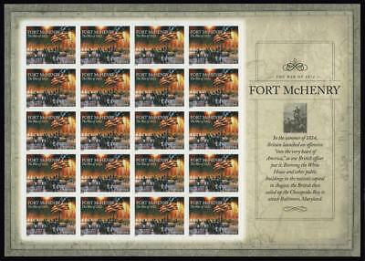 US #4921 War of 1812 Fort McHenry Star-Spangled Banner Sheet of 20 VF NH MNH