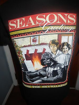 """Seasons Greetings From The Skywalkers"" Star Wars Small T-Shirt NWT Christmas"