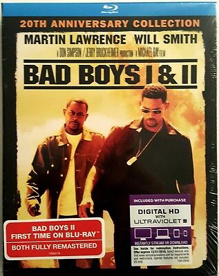 BAD BOYS 1 & 2 20th ANNIVERSARY COLLECTION * BLU-RAY + DIGITAL HD * BRAND NEW!