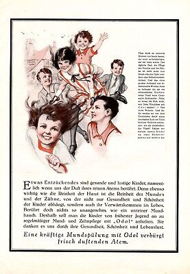 Odol mouthwash German XL 1927 ad children pure breath dentist no halitosis