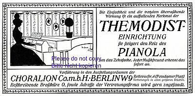 Collectibles Advertising Shop For Cheap Self Playing Piano Phonola German Ad 1907 Hupfeld Leipzig Richard Wagner