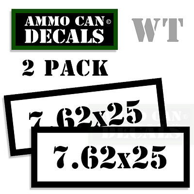 "7.62x51 Ammo Can Decals Ammunition Ammo Can Labels 3/"" x 1.15/"" Vinyl 4 pack WT"