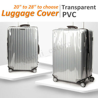 20-28'' Clear PVC Plastic Luggage Rain Dust Cover Suit Suitcase Protector Cover