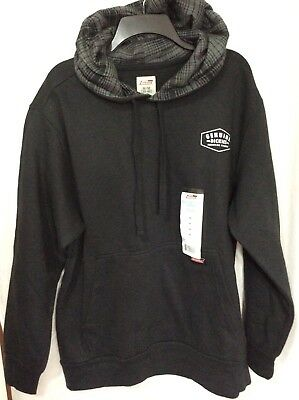 34e7b925eb Dickies Men's Black Fleece Hoodie Sweatshirt Mid Weight Hooded Pullover NEW  Med