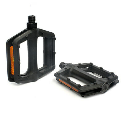 BICYCLE PEDALS 9//16 INCH PEDALS CROMO SPINDLE PLASTIC PEDAL BIKE REPLACEMENT NEW
