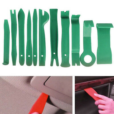 Qty11 Car Body Auto Door Panel Console Dashboard Trim Removal Plastic Tool Green