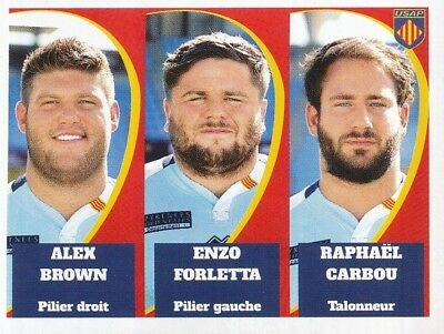 349 TAUMALOLO GENEVOIS TERRAIN # USAP PERPIGNAN PRO D2 STICKER PANINI RUGBY 2015 Stickers, albums, sets